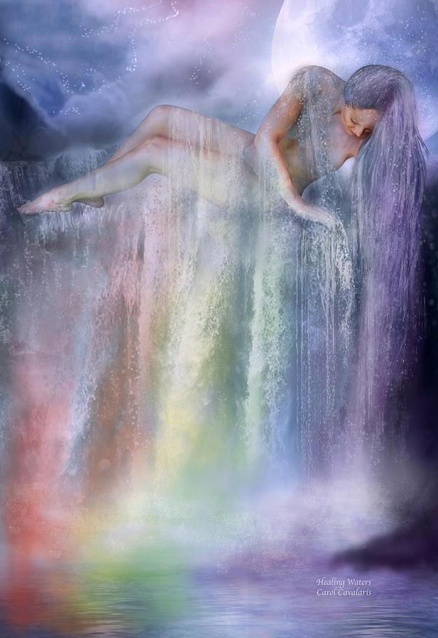 Chakra Mixed Media - Healing Waters by Carol Cavalaris