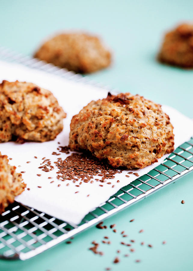 Health Cakes With Flax Seeds Photograph by Line Klein