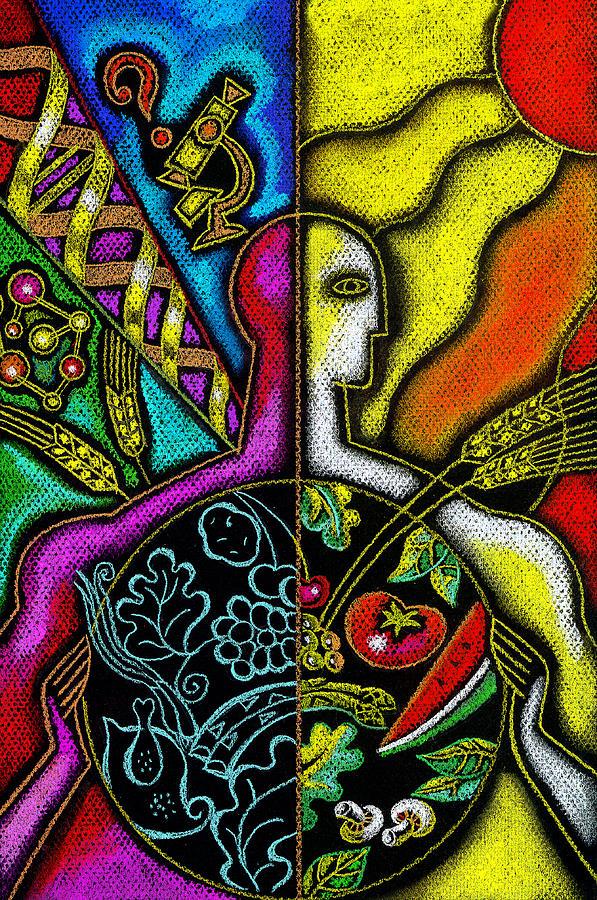 Health Food Painting By Leon Zernitsky