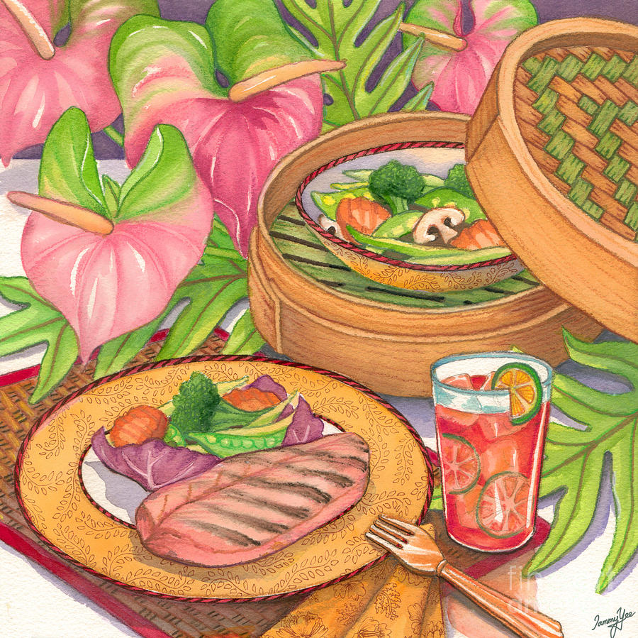 Dining Painting - Healthy Dining by Tammy Yee
