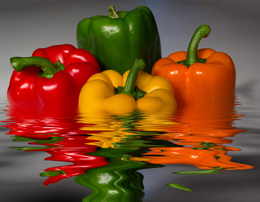Peppers Photograph - Healthy Reflections by Shane Bechler