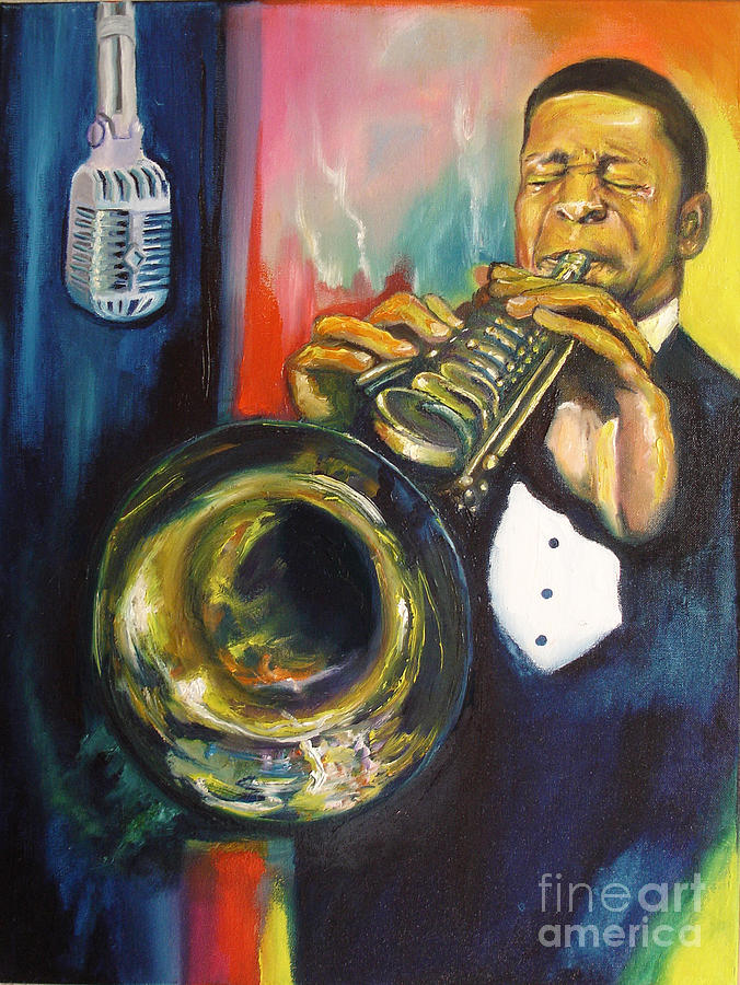 John Coltrane Painting - Hear Johnny by Donna Chaasadah