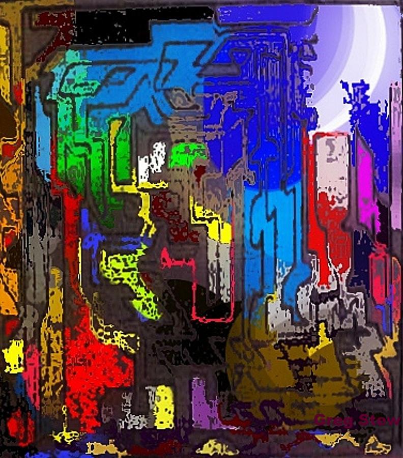 Blue Digital Art - Hear Nor There by Gregory Steward