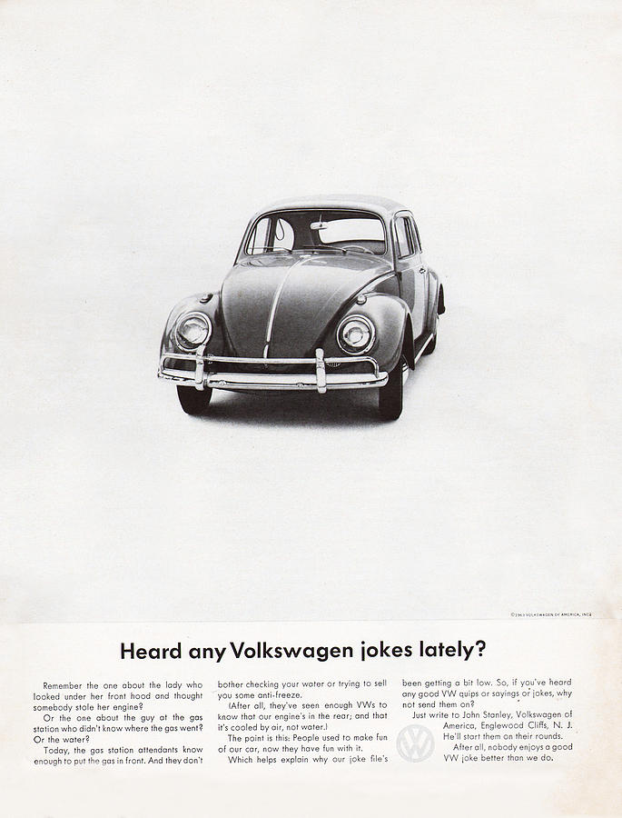 Vw Beetle Digital Art - Heard Any Good Volkswagen Jokes Lately by Georgia Fowler