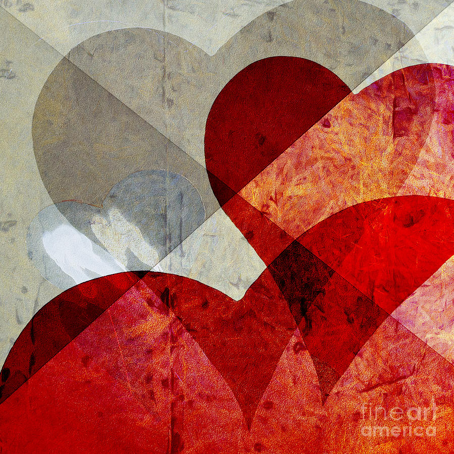 Abstract Photograph - Hearts 8 Square by Edward Fielding