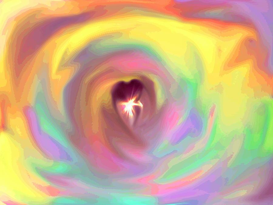 Heart Digital Art - Heart Abstract by Marianna Mills