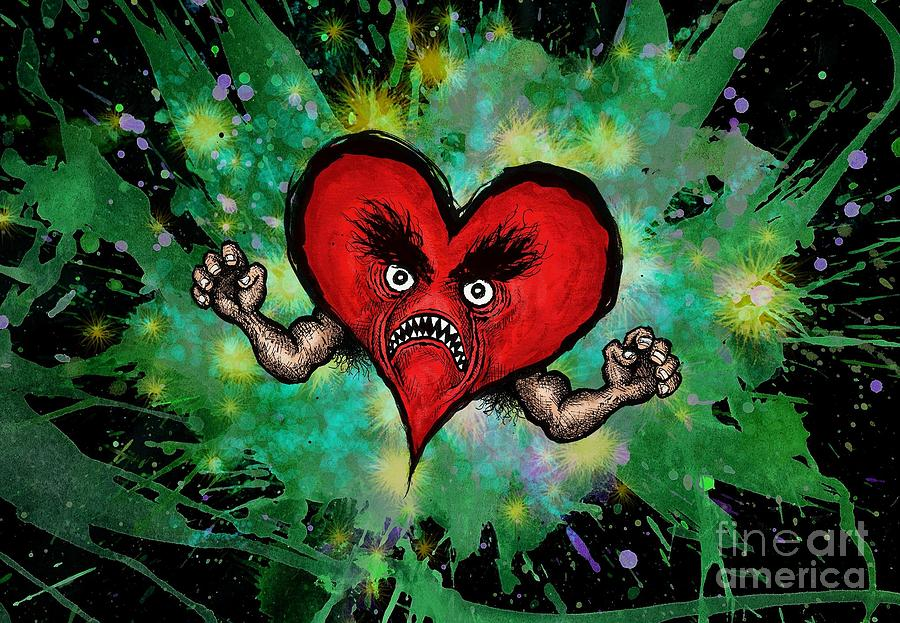 Heart Digital Art - Heart Attack by M o R x N