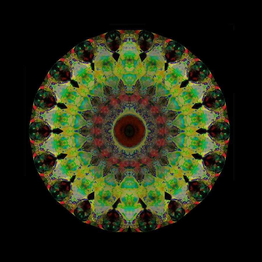 Mandala Painting - Heart Aura - Mandala Art By Sharon Cummings by Sharon Cummings