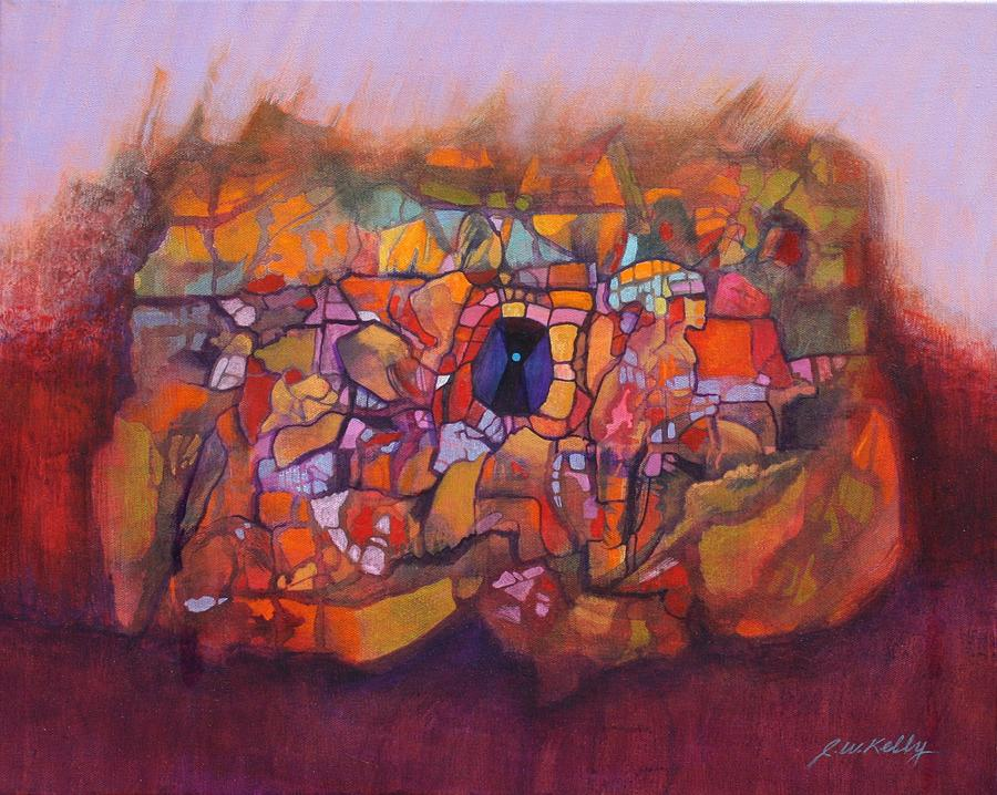 Free Form Painting - Heart Cave by J W Kelly