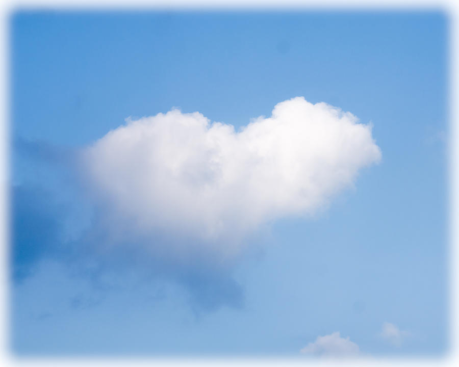 Cloud Photograph - Heart Cloud by Shirley Tinkham