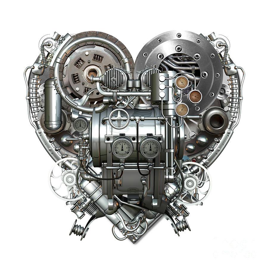 Love Mixed Media - Heart by Diuno Ashlee