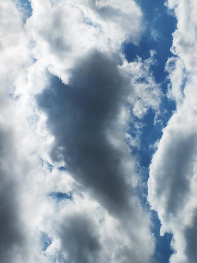 Sky Photograph - Heart I by Anna Villarreal Garbis