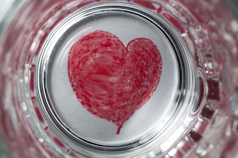 Heart Photograph - Heart In Mug Abstract 1 B by John Brueske