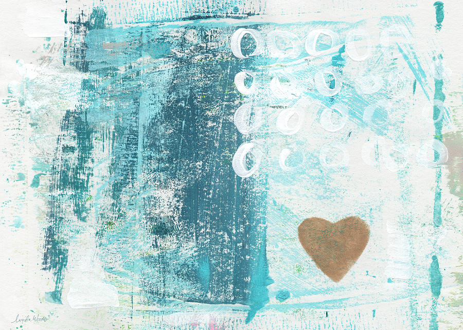 Heart In The Sand- Abstract Art Painting