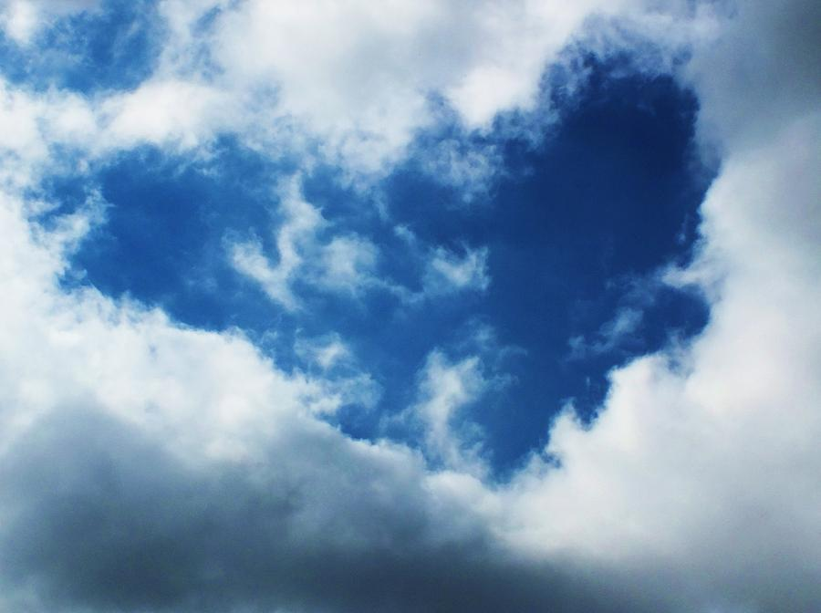 Cloud Photograph - Heart In The Sky by Anna Villarreal Garbis