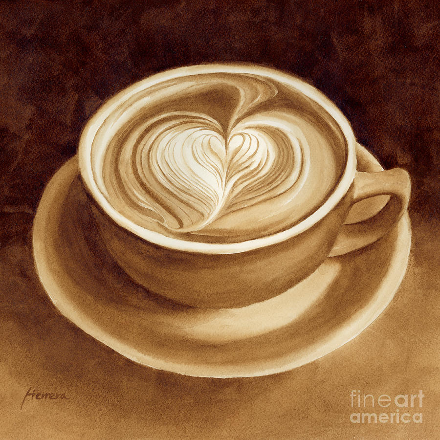 Heart Latte II Painting