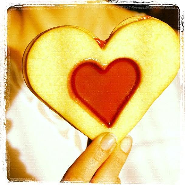 Love Photograph - Heart Love Cookie by Matthias Hauser