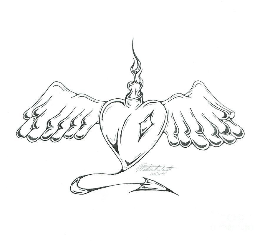 Heart Drawing - Heart by Matt Sutherland