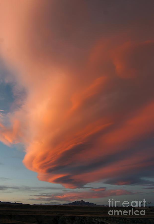Heart Mountain Cirrus Sunset-signed Photograph