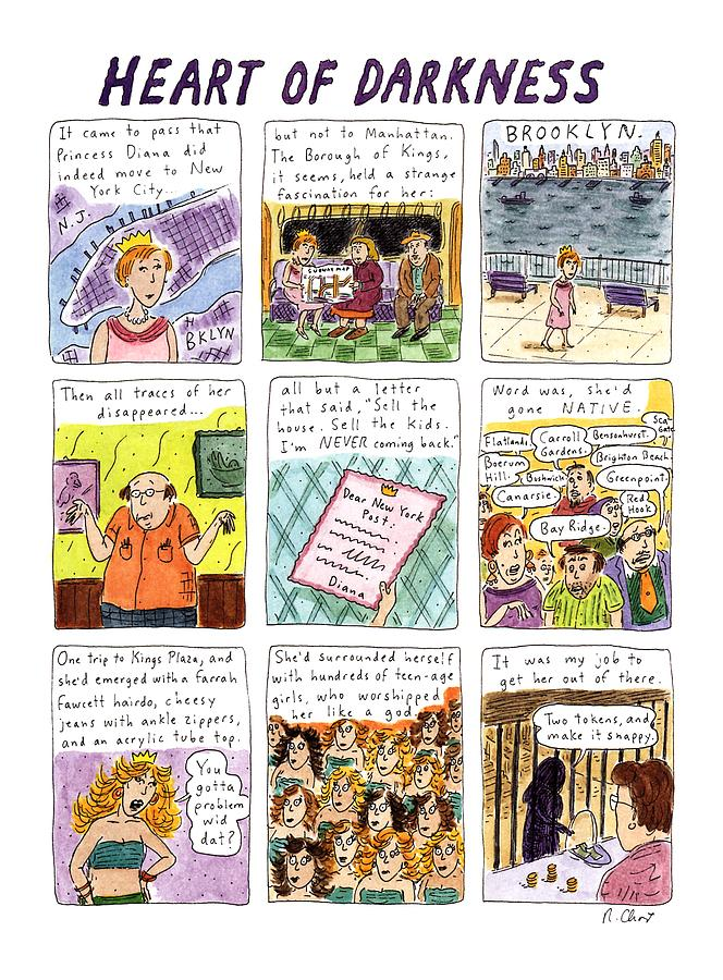 Heart Of Darkness Drawing by Roz Chast
