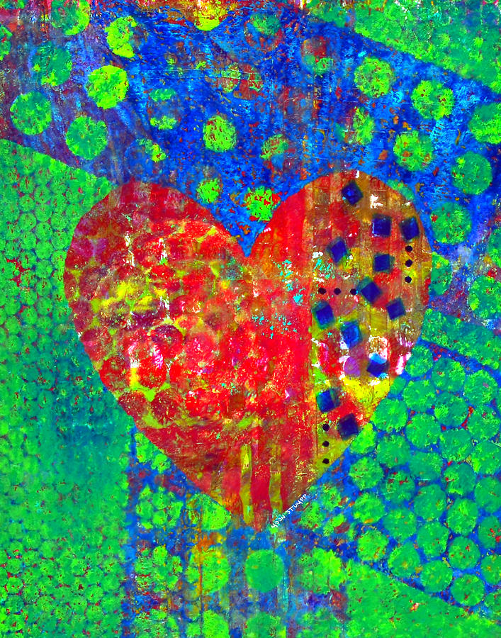 Abstract Paintings Painting - Heart Of Hearts Series - Cheers by Moon Stumpp