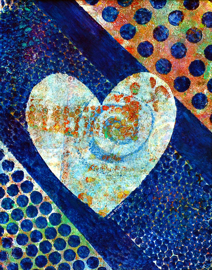 Abstract Paintings Painting - Heart Of Hearts Series - Elated by Moon Stumpp