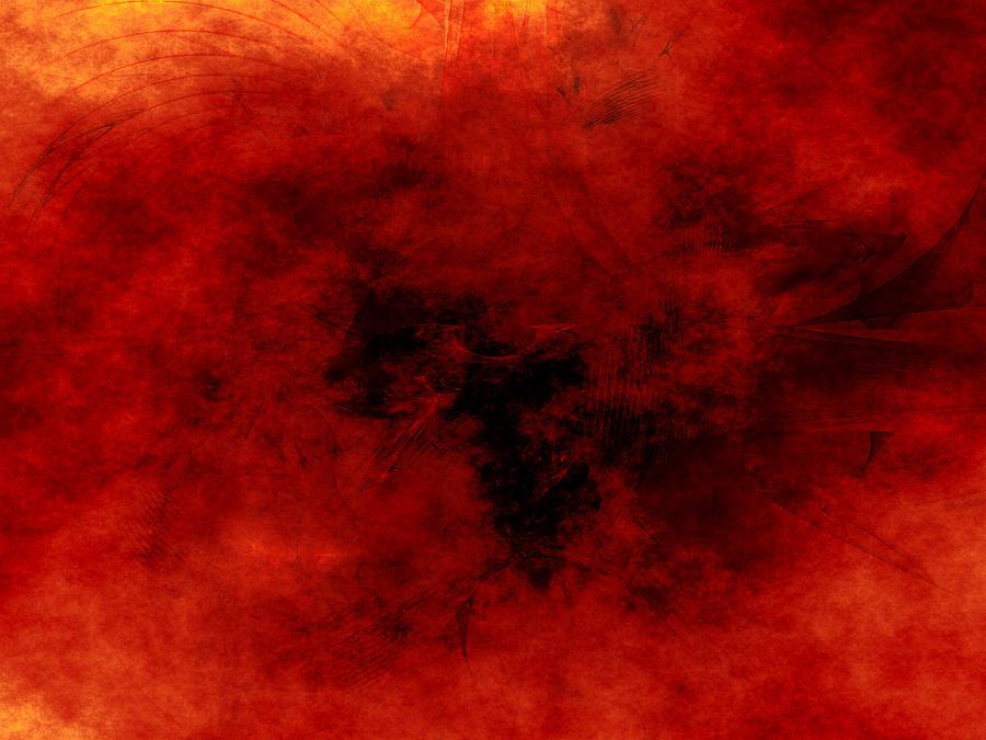 Chaos Digital Art - Heart Of Heat by Jeff Iverson
