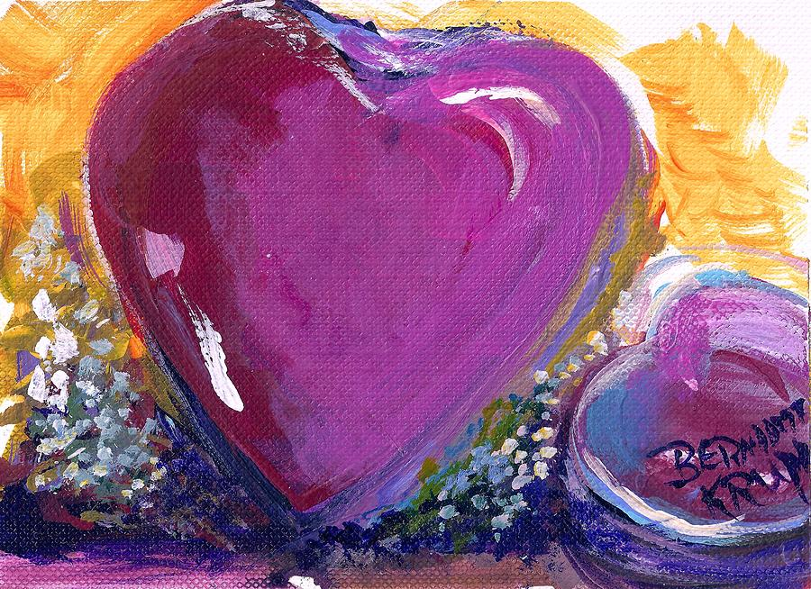 Heart Painting - Heart Of Love by Bernadette Krupa