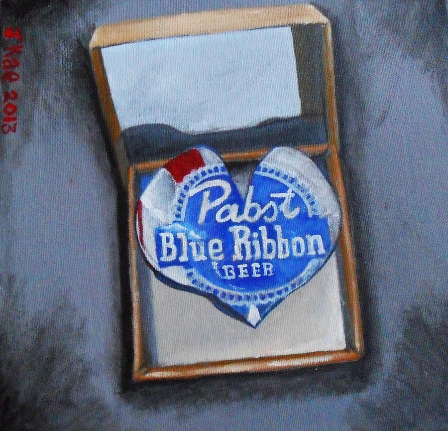 Love Painting - Heart Of Pabst by J Kae Good Bear