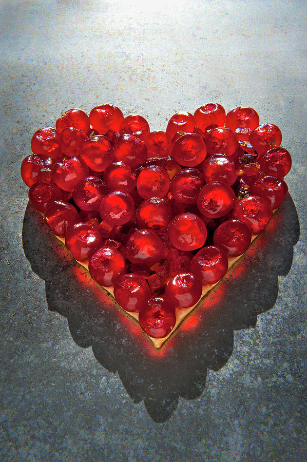 Heart Of Red Cherries Photograph by Patrizia Savarese