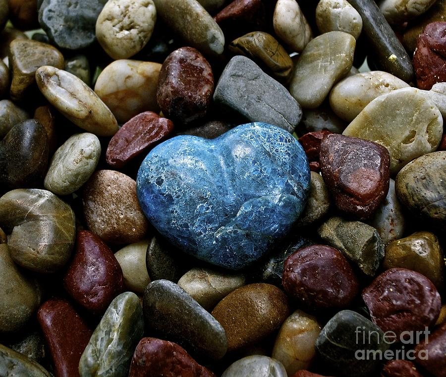 Heart Photograph - Heart Of Stone by Lisa  Telquist