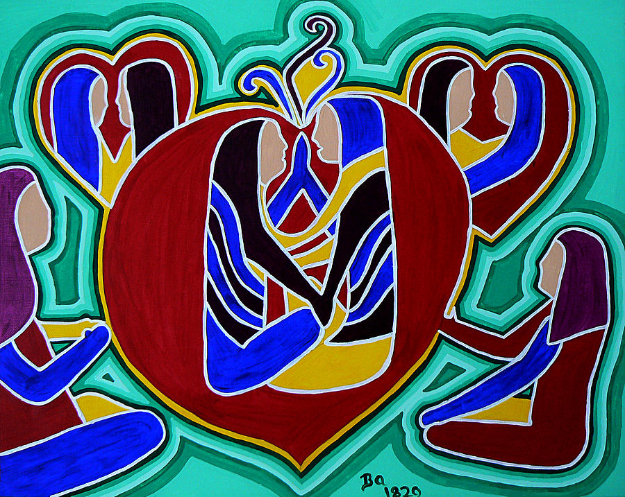 Heart Of The Ages Painting - Heart Of The Ages by Barbara St Jean