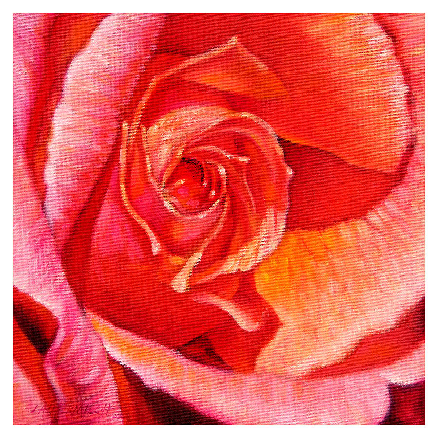 Rose Painting - Heart Of The Rose #1 by John Lautermilch