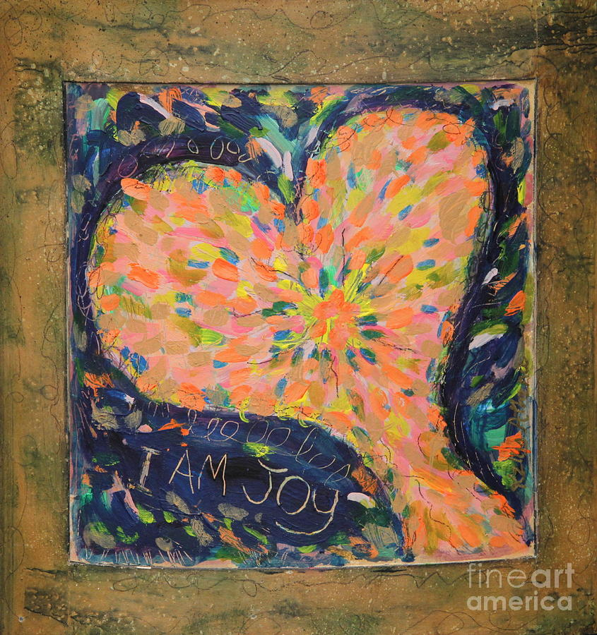 Pink Heart Painting - Heart On Curved Wood by Kelly Athena