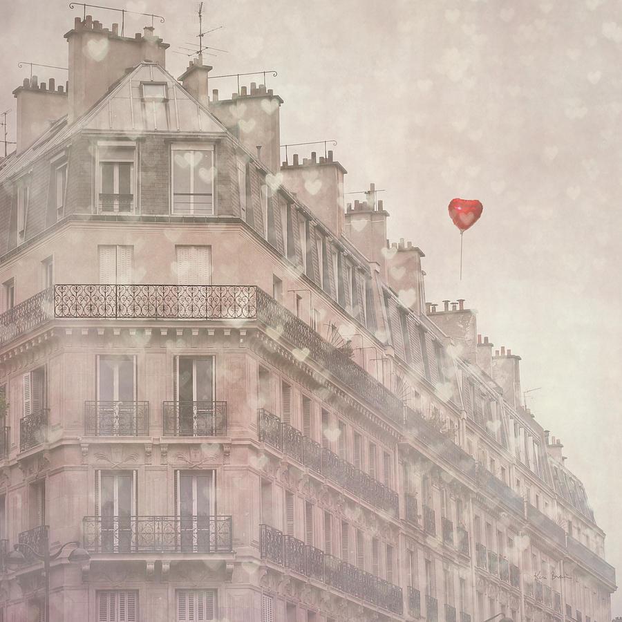 Architecture Painting - Heart Paris by Keri Bevan