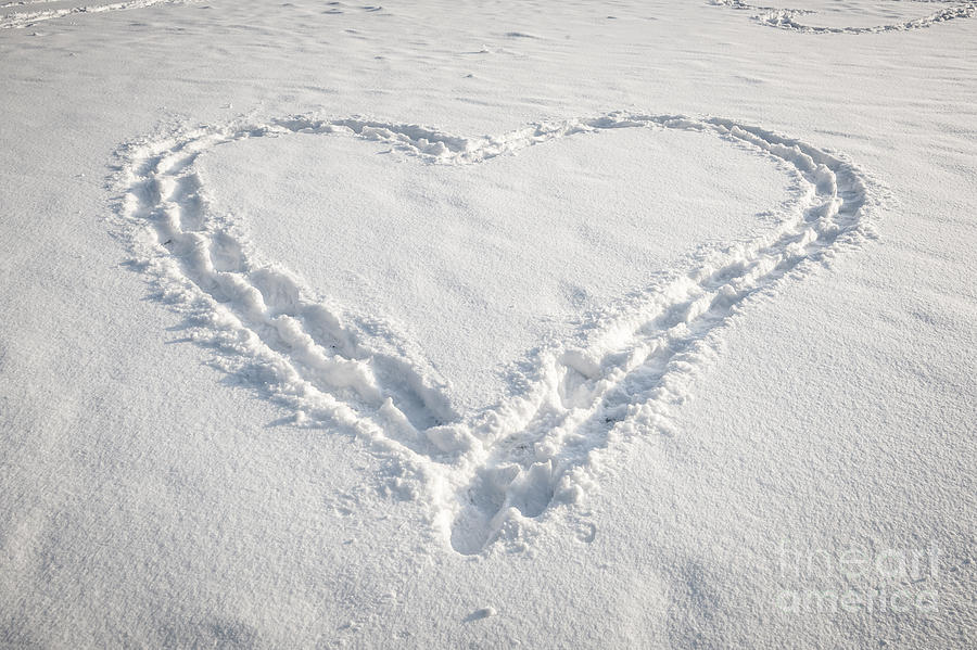 Heart Photograph - Heart Shape In Snow by Elena Elisseeva