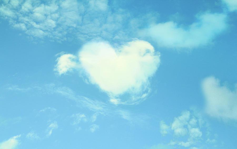 Heart-shaped Cloud Photograph by Yurif
