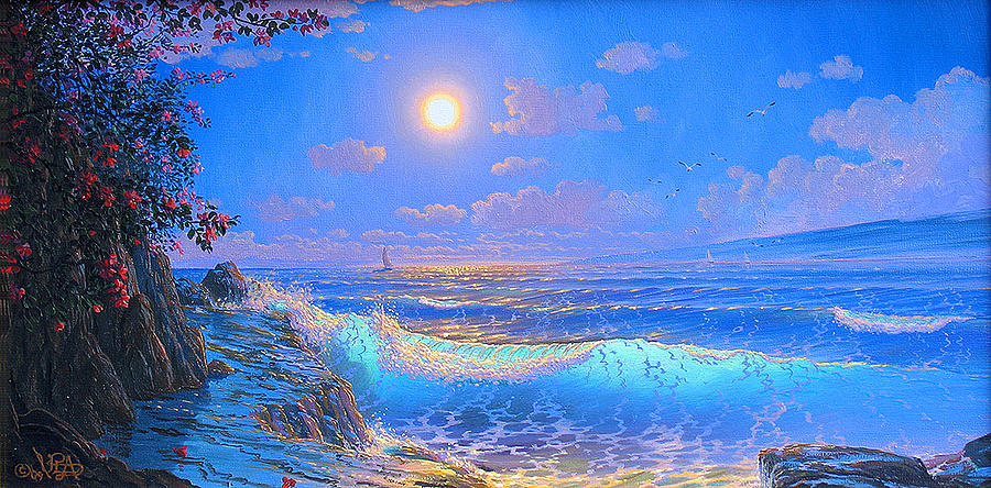 Seascape Painting - Heart Song by Loren Adams