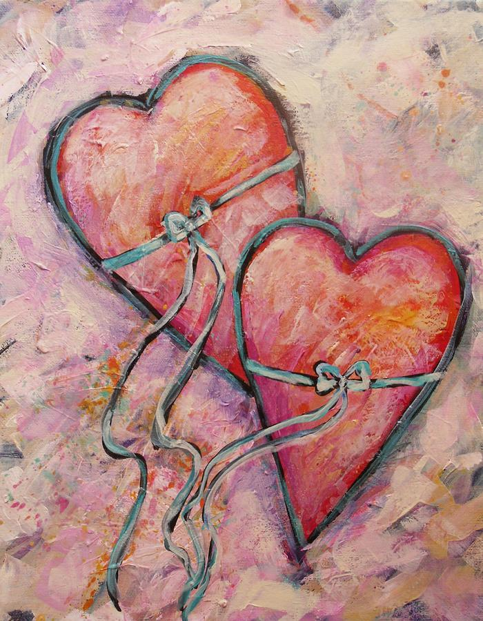 Heart Painting - Heart Strings by Carol Suzanne Niebuhr