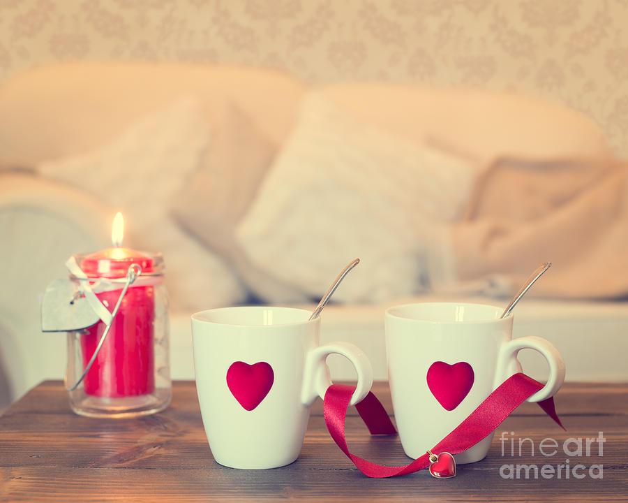 Love Photograph - Heart Teacups by Amanda Elwell