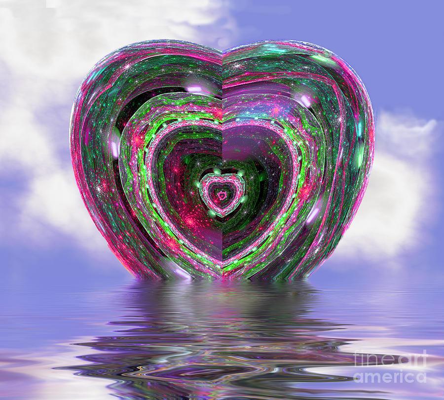 Heart Digital Art - Heart Up by Dee Flouton