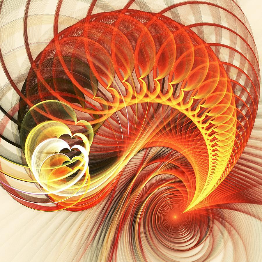 Abstract Digital Art - Heart Wave by Anastasiya Malakhova