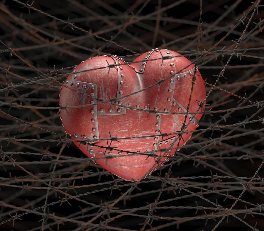 картинки сердце за решеткой образования
