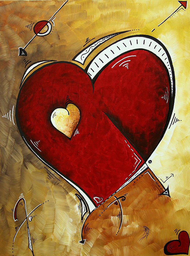 Painting Painting - Heartbeat By Madart by Megan Duncanson