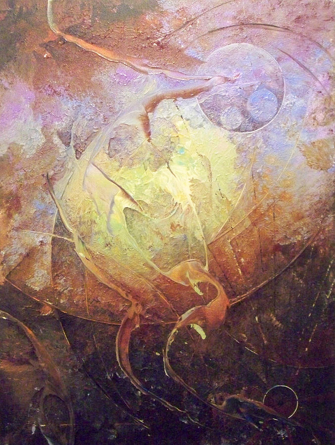 Abstract Paintings Painting - Heartbeat by Fred Wellner