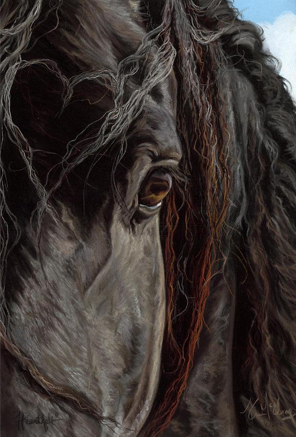Black Horse Pastel - Heartfelt by Kim McElroy