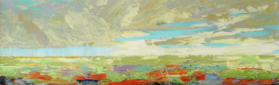 Abstract Painting - Heartland Series/ Big Sky by Marilyn Hurst