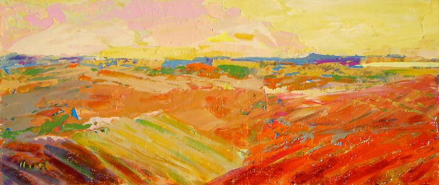 Abstract Painting - Heartland Series/ Prairies by Marilyn Hurst