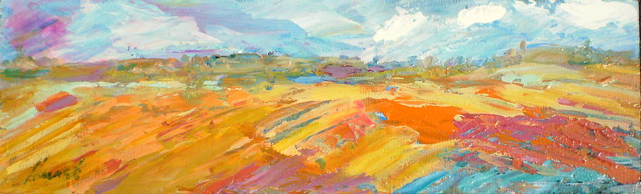Abstract Painting - Heartland Series/ Ranchlands by Marilyn Hurst