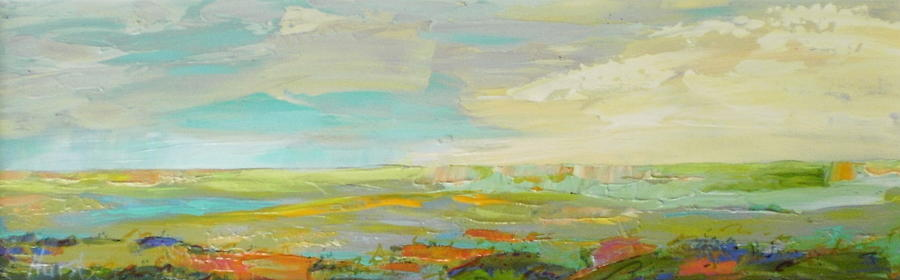 Abstract Painting - Heartland Series/ Springtime by Marilyn Hurst